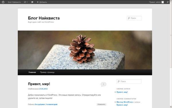 Интерфейс пользователя WordPress